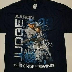 Aaron Judge New York Yankees 100% Cotton Navy Tee